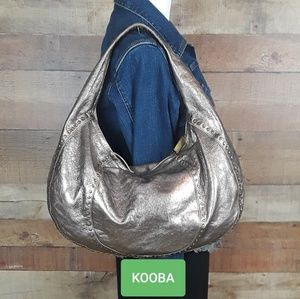 Kooba Studded Metallic Hobo Bag